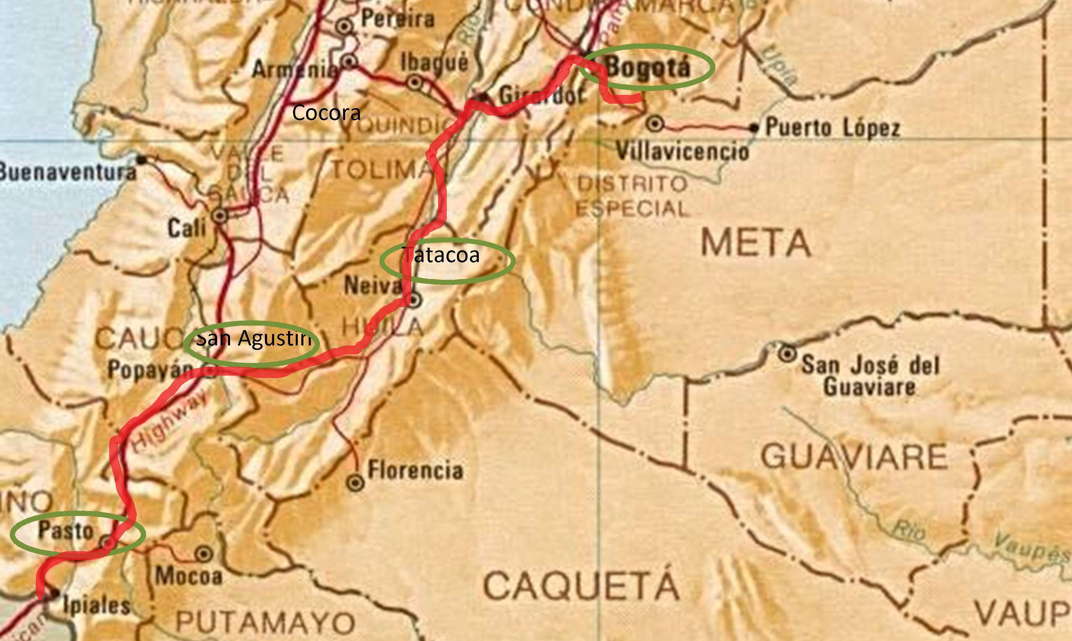 Route Colombia