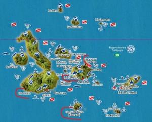 kaart galapagos combi